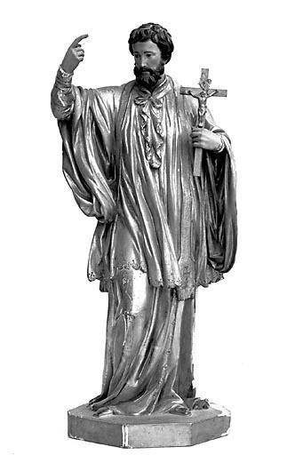 2 statuettes : saint François Xavier et saint Joseph