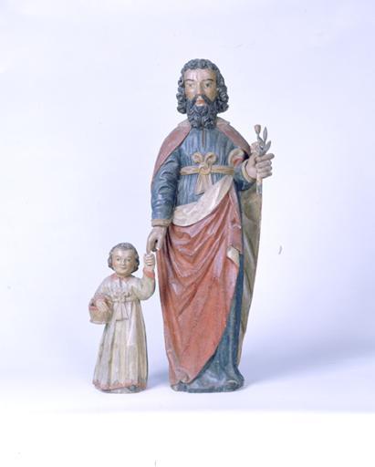Groupe sculpté : saint Joseph et l'Enfant
