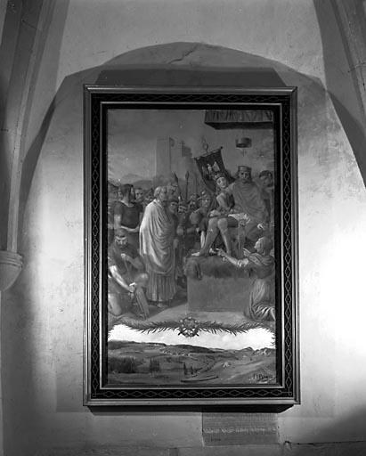 Peinture : le Martyre d'un évêque (?)