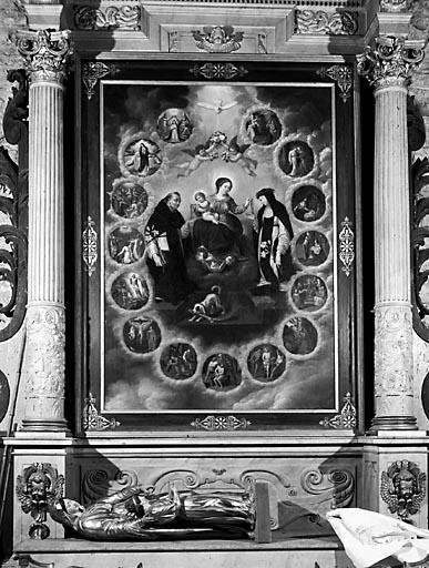 Tableau : la Donation du rosaire à saint Dominique et sainte Catherine de Sienne (n° 2)