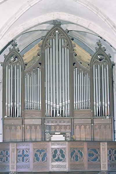 Orgue (grand orgue) et tribune d'orgue