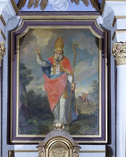 3 tableaux : saint Martin, saint Pierre et saint Paul