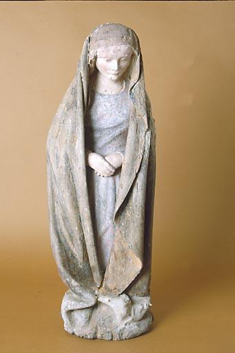 2 statuettes : la Vierge et saint Jean