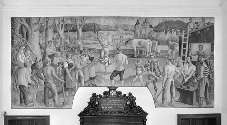 Peinture monumentale : allégorie du Pays de Montbéliard