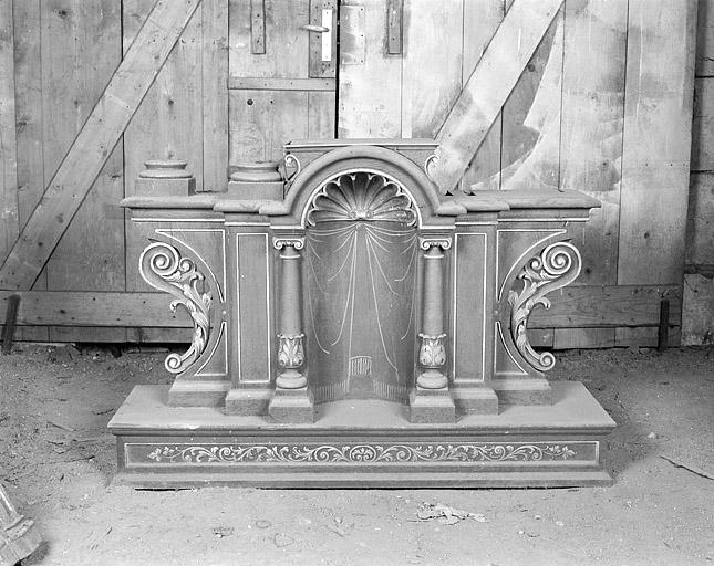 2 retables de l'autel du Sacré-Coeur et de l'autel Notre-Dame