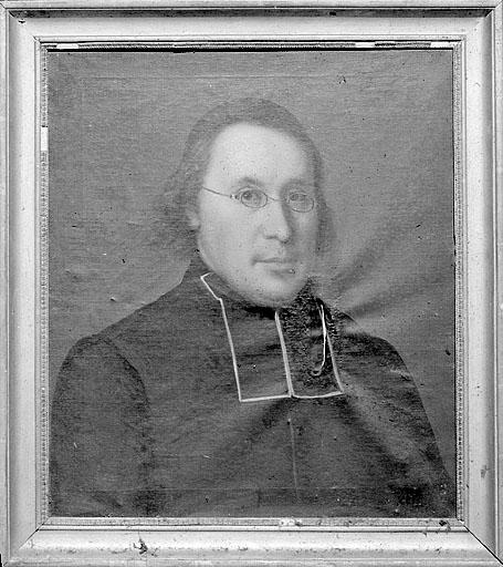 Tableau : portrait d'un prêtre