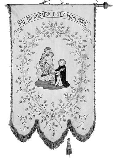 Bannière de procession de Notre-Dame du rosaire