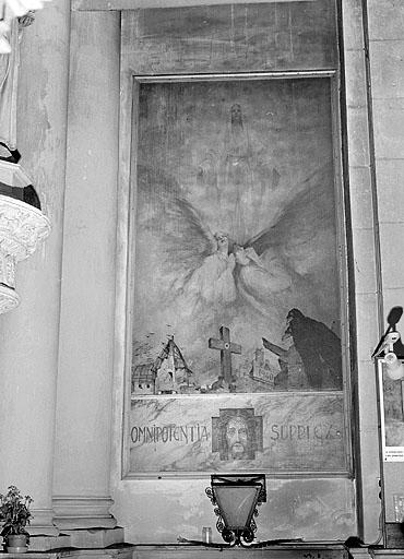 Peinture monumentale : scène allégorique