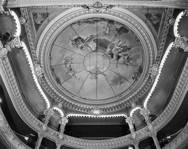 Peinture de plafond : Pégase entouré par la Musique, l'Art lyrique et la Danse
