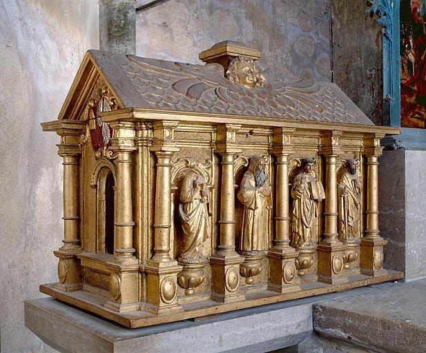 2 châsses de saint Lothain et de saint Aldegrin