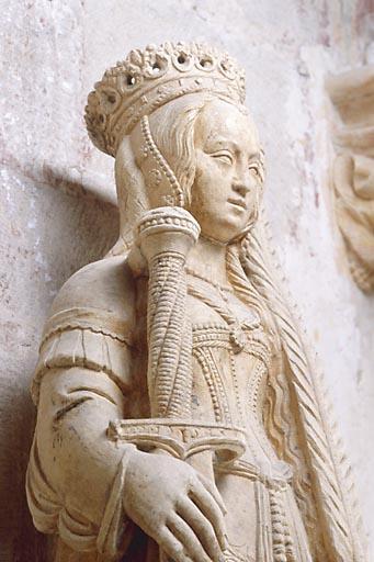 Statue : sainte Catherine d'Alexandrie