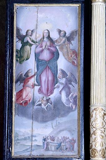 Diptyque de la Vierge : la Présentation de Jésus au Temple ; l'Assomption