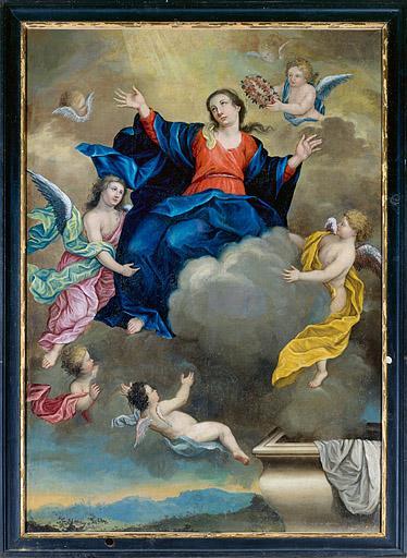 Tableau : l'Assomption et le Couronnement de la Vierge