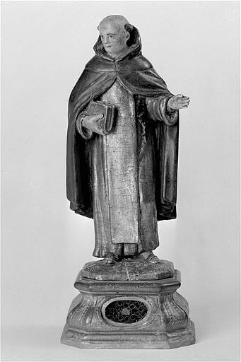 ensemble de 2 statues-reliquaires : sainte Catherine de Sienne et saint Dominique