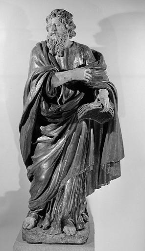 2 statues : un prophète et la prophétesse Anne