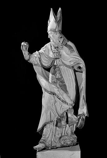 2 statues : saint Ambroise et saint Augustin