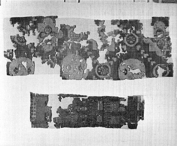 5 fragments de tissus (n° 2)