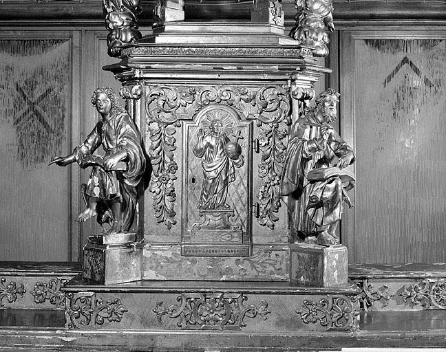 tabernacle, exposition de l'ensemble du maître-autel