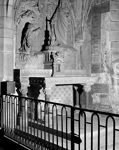 Autel, tabernacle (autel de sainte Marguerite-Marie Alacoque)
