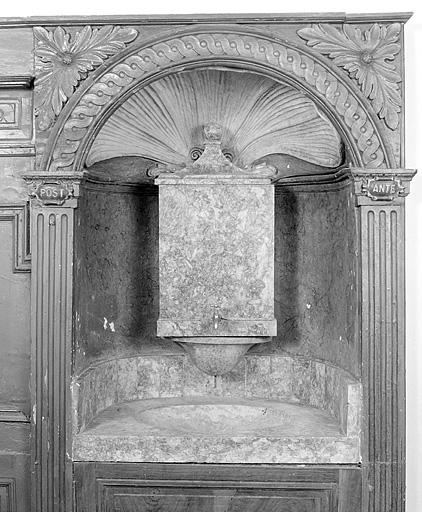 Lavabo de sacristie, fontaine de sacristie