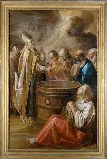 Tableau : le Miracle de saint Théodule