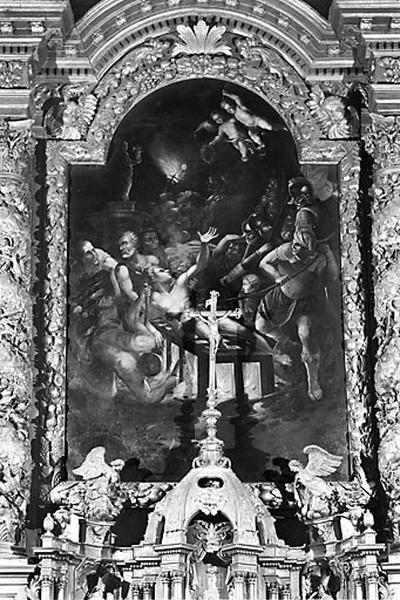 Tableau d'autel : le Martyre de saint Laurent