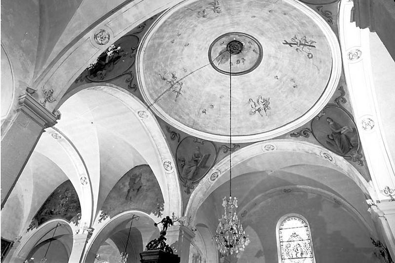 Peinture monumentale : saint Vernier, l'Ascension, les Evangélistes, saint Eloi et l'Assomption