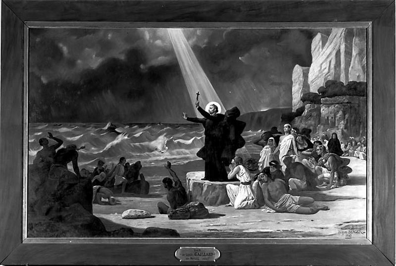 Tableau : Saint François Xavier apaisant la tempête