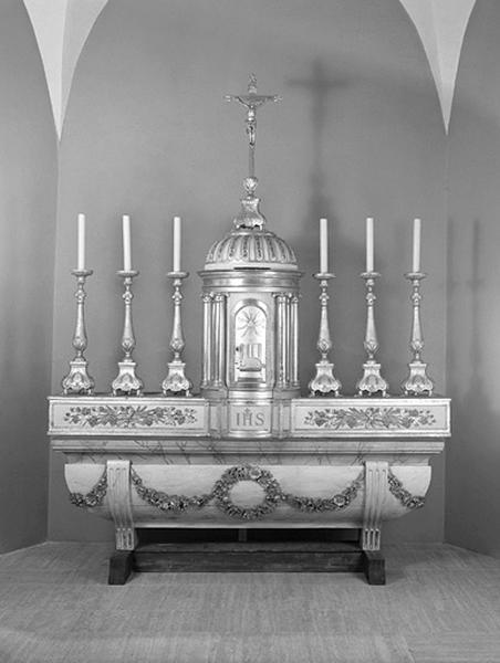 autel, gradin d'autel, tabernacle (ensemble du maître-autel)