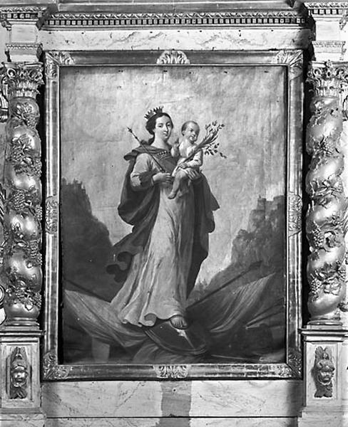 Tableau d'autel : Vierge à l'Enfant dite Notre-Dame libératrice de Salins