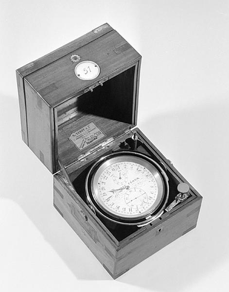 Instrument de mesure du temps (chronomètre de marine Fénon n° 51)