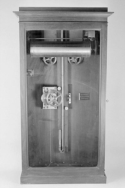 Baromètre et instrument d'enregistrement (baromètre enregistreur Redier)