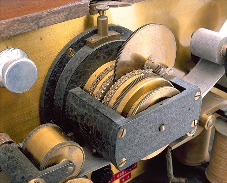 Instrument de mesure du temps et d'enregistrement (chronographe Secrétan)