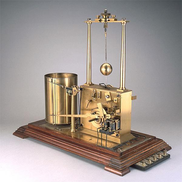 Instrument de mesure et d'enregistrement (anémo-cinémographe enregistreur Jules Richard)