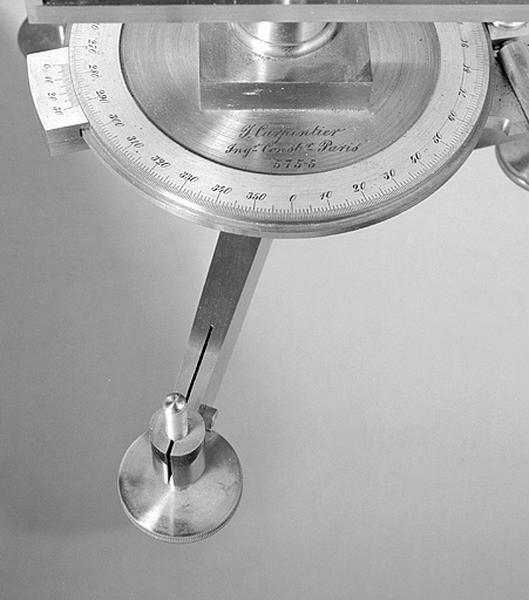 Instrument de mesure de la déclinaison magnétique (balance magnétique de Mascart)