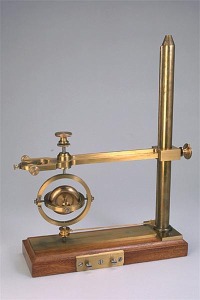 Instrument de démonstration en mécanique (gyroscope dit stréphoscope universel Gruey)