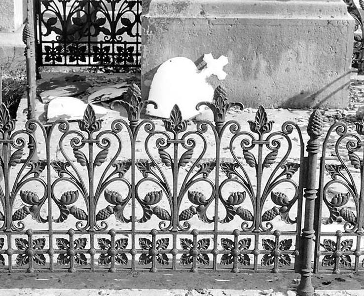 clôture de monument funéraire de la famille Geroudet