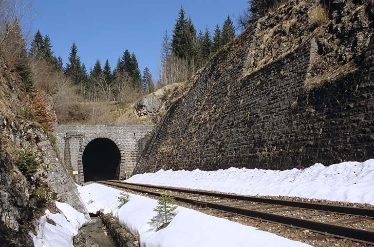 Tunnel dit souterrain du Saut (voie ferrée Andelot - La Cluse)