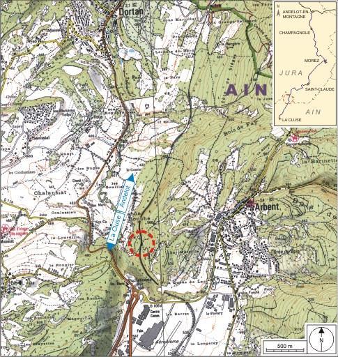 Passage à niveau n° 84 (voie ferrée Andelot - La Cluse)