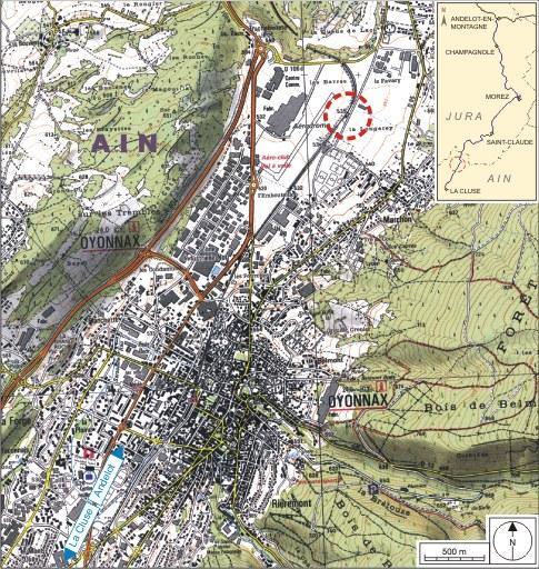 Halte de voyageurs puis gare dite station d'Arbent (voie ferrée Andelot - La Cluse)