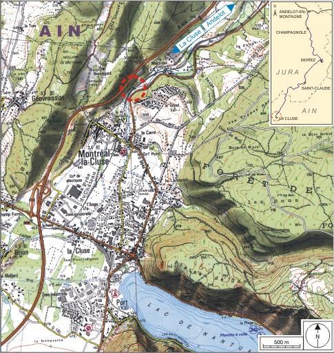 Pont ferroviaire et passage à niveau n° 101 a (voie ferrée Andelot - La Cluse)