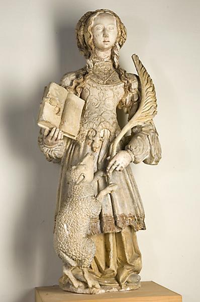 Statue : Sainte Agnès de Rome