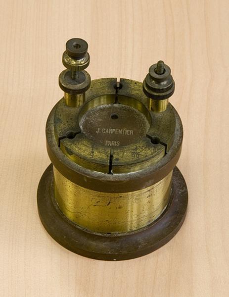 Instrument de mesure de forces électromotrices (résistance Carpentier)