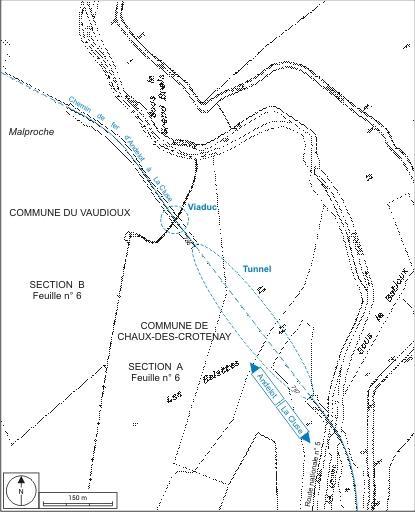 Viaduc de la Renvoise et tunnel dit souterrain des Belettes (voie ferrée Andelot - La Cluse)