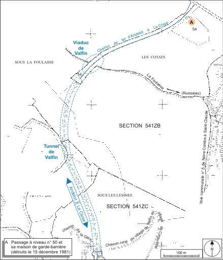 Viaduc et tunnel dit souterrain de Valfin (voie ferrée Andelot - La Cluse)