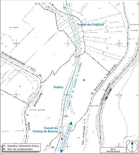 Viaduc de la Grande Roche et tunnels dits souterrains du Crapaud et du Champ de Bienne (voie ferrée Andelot - La Cluse)