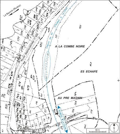 Tunnel dit galerie voûtée des Brasselettes (voie ferrée Andelot - La Cluse)