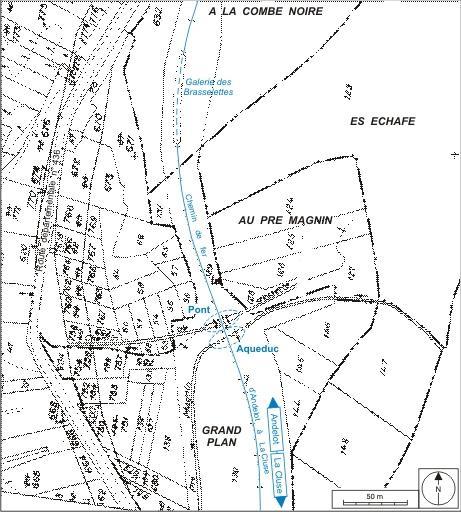 Pont ferroviaire et aqueduc (voie ferrée Andelot - La Cluse)