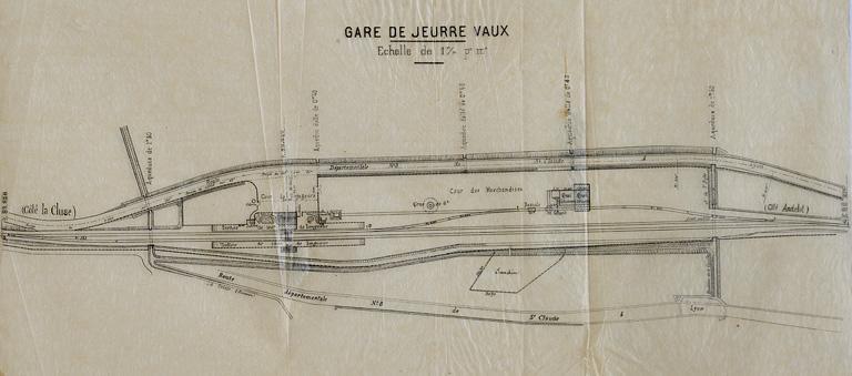 Gare de Jeurre - Vaux (voie ferrée Andelot - La Cluse)