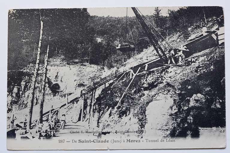 Murs de soutènement, viaduc de la Culée et tunnel dit souterrain de la Gouille aux Cerfs (voie ferrée Andelot - La Cluse)